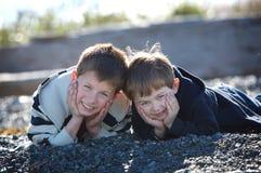 αγόρια δύο παραλιών Στοκ Εικόνες