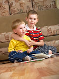 αγόρια δύο Στοκ εικόνα με δικαίωμα ελεύθερης χρήσης