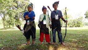 Αγόρια με το της Μαλαισίας κοστούμι Στοκ Εικόνες