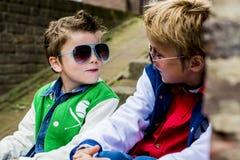 Αγόρια μόδας διασκέδασης Στοκ Εικόνα