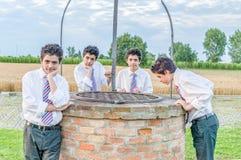 Αγόρια πέρα από καλά Στοκ Εικόνες