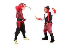 Αγόρια στα κοστούμια πειρατών Στοκ Φωτογραφία