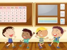 Αγόρια στην τάξη διανυσματική απεικόνιση