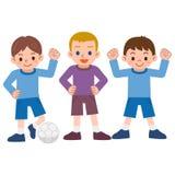 Αγόρια στο ποδόσφαιρο Στοκ εικόνες με δικαίωμα ελεύθερης χρήσης
