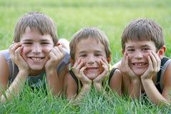 αγόρια τρία στοκ φωτογραφίες με δικαίωμα ελεύθερης χρήσης