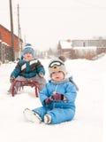 αγόρια δύο Στοκ Εικόνα