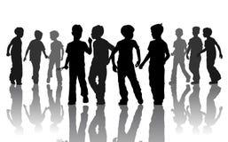 αγόρια silhuets Στοκ φωτογραφίες με δικαίωμα ελεύθερης χρήσης
