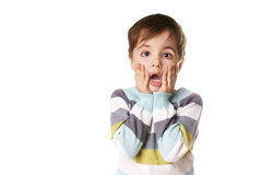 αγόρι έκπληκτο Στοκ εικόνες με δικαίωμα ελεύθερης χρήσης