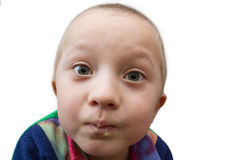 Αγόρι έκφρασης του προσώπου Στοκ Εικόνες