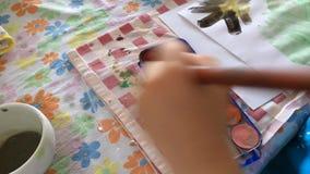 αγόρι λίγη ζωγραφική φιλμ μικρού μήκους