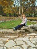 αγόρι λίγο πάρκο Στοκ εικόνες με δικαίωμα ελεύθερης χρήσης