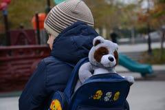 αγόρι λίγο περπάτημα Στοκ Εικόνα