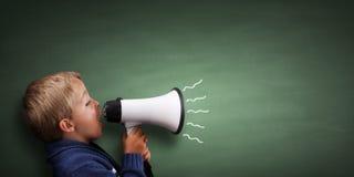 αγόρι λίγο megaphone Στοκ εικόνα με δικαίωμα ελεύθερης χρήσης