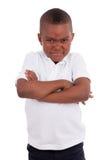 αγόρι αφροαμερικάνων λίγο πορτρέτο Στοκ Εικόνες