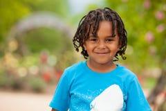 αγόρι αφροαμερικάνων χαριτωμένο λίγο πορτρέτο Στοκ Φωτογραφία