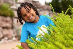 αγόρι αφροαμερικάνων χαριτωμένο λίγο πορτρέτο Στοκ Εικόνες