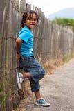αγόρι αφροαμερικάνων χαριτωμένο λίγο πορτρέτο Στοκ φωτογραφία με δικαίωμα ελεύθερης χρήσης