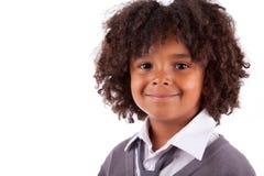 αγόρι αφροαμερικάνων χαριτωμένο λίγο πορτρέτο Στοκ εικόνες με δικαίωμα ελεύθερης χρήσης