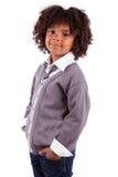 αγόρι αφροαμερικάνων χαριτωμένο λίγο πορτρέτο Στοκ Φωτογραφίες