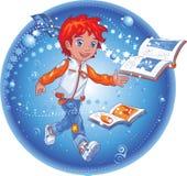 αγόρι βιβλίων μαγικό Στοκ φωτογραφίες με δικαίωμα ελεύθερης χρήσης