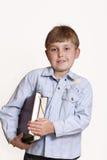 αγόρι βιβλίων Στοκ φωτογραφία με δικαίωμα ελεύθερης χρήσης
