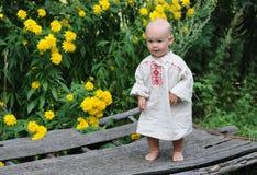 Αγόρι ενός έτους βρεφών στο αυτοκίνητο Στοκ Εικόνα
