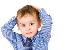 αγόρι ευτυχές λίγο πορτρέ& Στοκ φωτογραφίες με δικαίωμα ελεύθερης χρήσης