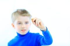 αγόρι ευτυχές λίγο πορτρέ& Στοκ φωτογραφία με δικαίωμα ελεύθερης χρήσης