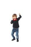 Αγόρι ευτυχίας με το τηλέφωνο Στοκ εικόνα με δικαίωμα ελεύθερης χρήσης
