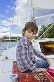 αγόρι ιστιοπλοϊκό Στοκ φωτογραφία με δικαίωμα ελεύθερης χρήσης