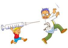 Αγόρι και γιατρός διανυσματική απεικόνιση