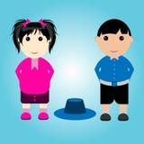 Αγόρι και κορίτσι σπουδαστών Στοκ εικόνα με δικαίωμα ελεύθερης χρήσης