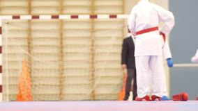 Αγόρι και κορίτσι στη karate πάλη φιλμ μικρού μήκους