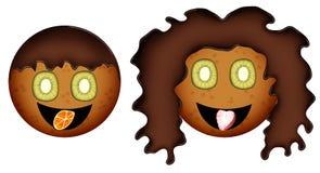 Αγόρι και κορίτσι των μπισκότων Στοκ εικόνες με δικαίωμα ελεύθερης χρήσης