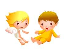 Αγόρι και κορίτσι Στοκ Εικόνες