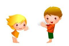 Αγόρι και κορίτσι Στοκ Φωτογραφία