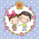 Αγόρι και κορίτσι ελεύθερη απεικόνιση δικαιώματος