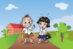 Αγόρι και κορίτσι Chillden Στοκ φωτογραφία με δικαίωμα ελεύθερης χρήσης