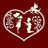 Αγόρι και κορίτσι cupids Στοκ Φωτογραφία