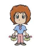 Αγόρι και λουλούδια Στοκ Εικόνες