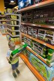 Αγόρι και παιχνίδι Στοκ Εικόνες