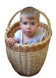 αγόρι καλαθιών Στοκ εικόνα με δικαίωμα ελεύθερης χρήσης