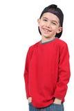 αγόρι ΚΑΠ μπέιζ-μπώλ Στοκ φωτογραφίες με δικαίωμα ελεύθερης χρήσης