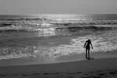 Αγόρι κυματωγών Monocrhome Στοκ Φωτογραφία