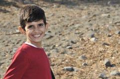 Αγόρι Λέσβος Ελλάδα προσφύγων στοκ εικόνες