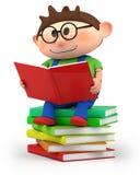 αγόρι λίγη ανάγνωση Στοκ φωτογραφία με δικαίωμα ελεύθερης χρήσης