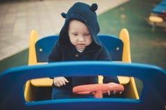 αγόρι λίγη παιδική χαρά Στοκ Εικόνα
