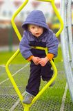 αγόρι λίγο playpark Στοκ Φωτογραφίες