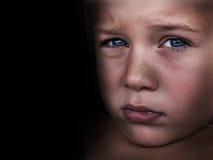 αγόρι λυπημένο Στοκ Εικόνες