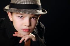 Αγόρι με ένα καπέλο Στοκ Φωτογραφία